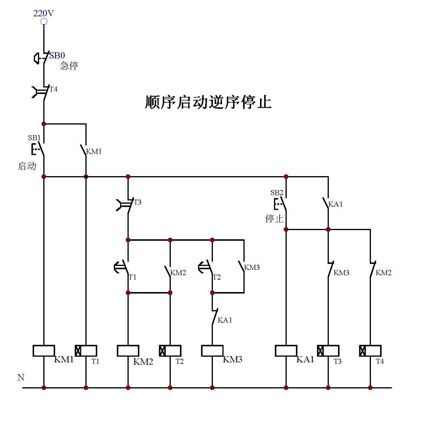 求时间继电器定时设定的原理,及其电路图